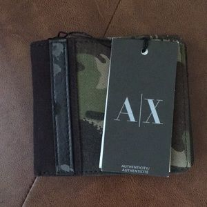 Authentic ARMANI EXCHANGE camouflage Bifold